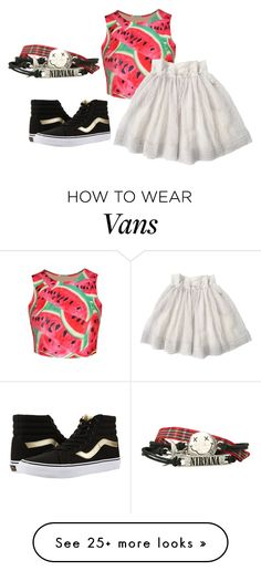 """""""I have no idea"""" by girl-in-love-m on Polyvore featuring WithChic and Vans"""