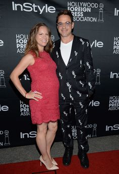 Actor Robert Downey Jr. and wife Susan Downey attend the Hollywood Foreign Press Association and InStyle party at the Windsor Arms Hotel during the Toronto International Film Festival in Toronto on Saturday, Sept. 6, 2014.   Photo by Evan Agostini of Invision.