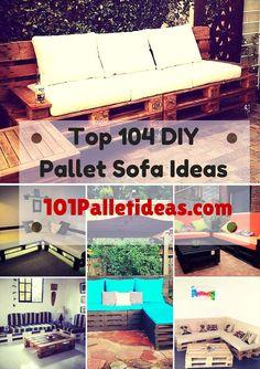 Top 104 Unique DIY #Pallet #Sofa Ideas | 101 Pallet Ideas - Part 4