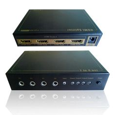 IR Supported 1X4 HDMI Splitter 3D