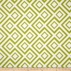 Robert Allen Switchback Jacquard Leaf from @fabricdotcom  Refresh and modernize any home decor with this heavyweight jacquard fabric. Perfect fabric for revitalizing an old piece of furniture and updating it with a new look. This fabric is an appropriate weight for accent pillows, slipcovers and upholstering furniture, headboards and ottomans. Colors include leaf green and white. This fabric has 100,000 Double Rubs.