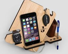 Diy phone charging station new 88 best phone tablet stand speaker docking station images on of Key Holder Wallet, Phone Holder, Tablet Holder, Diy Cell Phone Stand, Phone Case, Iphone Docking Station, Watch Organizer, Personalized Christmas Gifts, Wooden Gifts