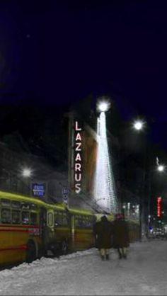 Christmas Shopping in Downtown COLUMBUS OHIO at LAZURUS  Vintage / Retro photo Pic