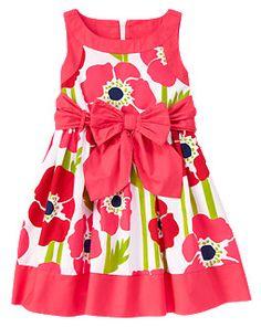 Poppy Bow Sash Dress