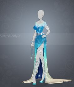 (closed) Auction Adopt - Outfit 430 : Earth Dress by CherrysDesigns