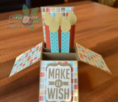 Birthday Card in a Box by Chris Slogar - Cards and Paper Crafts at Splitcoaststampers