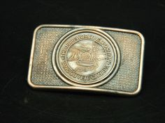 "Vintage 1986 World Exposition Vancouver Canada Copper Color Buckle 3""x 2""…"