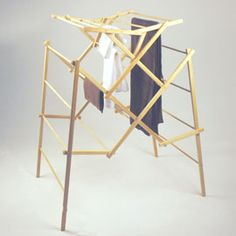 Jumbo Clothes Drying Rack Built-to-last rack offers 56 feet of drying space!