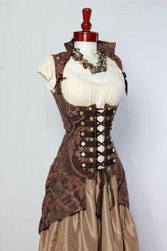 Taille 29-31 braun Medaillon Vixen Piraten von damselinthisdress