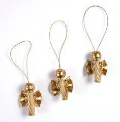 Set of 3 pasta angels Christmas ornaments for by bymarkova on Etsy, $14.90