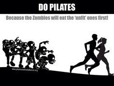 Pilates yapın çünkü olası bir zombi saldırısında zombiler önce fit olmayanları yakalayıp yiyecek #pilates #zombie #funny