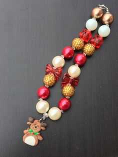 Christmas+Inspired+Chunky+Bubblegum+necklace+for+by+PsCreation
