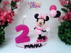 """""""Topo de bolo Minnie rosa"""""""