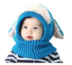 Cute Warm Gloves Muium Infant Baby Boys Girls 3 Sets Winter Smile Scarf Neck Keep Warm Scarves Hat