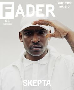This magazine has a very clean format. Skepta is the main artist that wants to be portrayed and is the vocal point of the whole cover. I think having just the artist with a clean look is great. Minimal text and a bold picture make for a crisp cover. Magazine Front Cover, Magazine Cover Design, Magazine Covers, Boy Better Know, Grime Artists, Billy Kidd, Theater, Uk Music, Thing 1