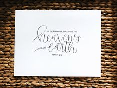 everyone has a favorite verse, words that will keep you grounded in God's word. get a beautiful reminder of that verse, those verses that you love. hang it on your wall and read it everyday. Watercolor Quote, Brush Pen, Hand Lettering, Bible Verses, Journaling, Place Card Holders, Words, Handmade Gifts, Wall