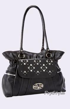 Kathy Van Zeeland Decadent Disco Black Shoulder Bag