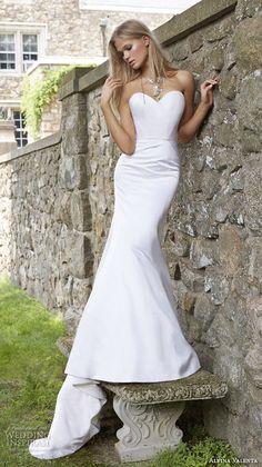 alvina valenta fall 2015 wedding dresses strapless sweetheart neckline silk faced a line mermaid wedding dress detachable tulle overskirt av9554