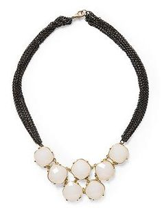 Tinley Road Opaque Faceted Necklace   Piperlime