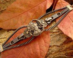 Uno Dos Tres Steampunk pulsera cremallera de por PeteAndVeronicas