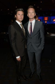 "L-R) David Burtka and actor Neil Patrick Harris attend the 20th Annual Race To Erase MS Gala ""Love To Erase MS"" at the Hyatt Regency Century Plaza on May 3, 2013 in Century City, California."