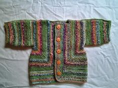Country Baby hand knitted jacket.  Unique by CheekyKiwiBaby, $30.00