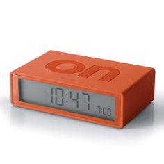 Via Garibaldi 12 - Vetrina on-line - Elettronica - Lexon - Flip - sveglia Flip arancio