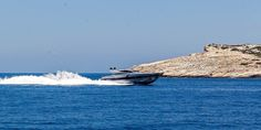 """""""Alea""""'s 3000 horsepower engines can cruise you over the Aegean waters at an awesome speed of nearly 40 knots!"""