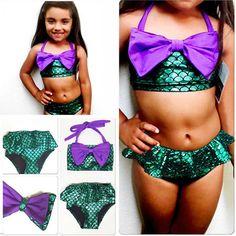 f5a3674c2df US Stock Kids Girl Mermaid Swimwear Swimming Costume Bikini Tankini Set  Swimsuit  Unbranded  BikiniSet