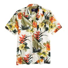 This matches my work from home lifestyle perfectly.  Lightning Bolt® flowers Aloha Shirt @ JCrew