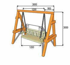 Garden swing with your hands Diy Pallet Projects, Wood Projects, Woodworking Furniture, Woodworking Projects, Furniture Makeover, Diy Furniture, Wooden Garden Swing, Ikea Bar, Bench Swing