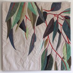 In My Portfolio: Leaves Rustle 1 | Ruth de Vos: Textile Art