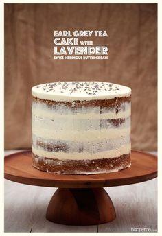 Earl Grey Tea Cake with Lavender Swiss Meringue Buttercream