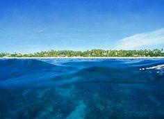 Alona Beach seen Half Underwater in Bohol