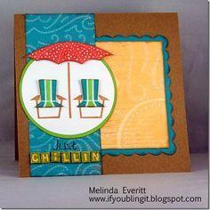 card by Melinda Everitt using CTMH Footloose paper