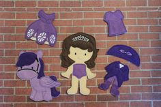 First Princess Felt Non Paper Doll by SewSurprisingbyJamie on Etsy