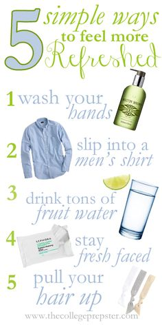 Five Simple Ways to Feel Refreshed