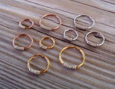SeamlessEndless Septum Ring Wrapped  by PavlosHandmadeStudio