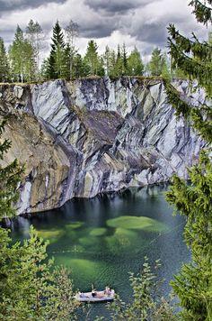 Ruskeala Marble Canyon, Karelia | Russia (by Andrey Korchagin)
