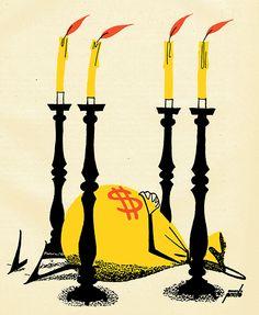 """Manolo Prieto (1912-1991), Ilustración para la portada de la novela """"El tacaño Salomón"""" de Benito Pérez Galdós."""