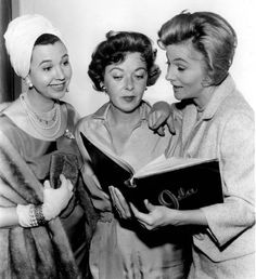 """Jane Withers, director Ida Lupino and Joan Fontaine on the set of """"A Possibility of Oil"""" episode of the anthology TV series """"General Electric Theater"""""""