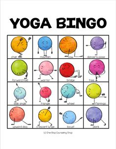 New Product :: Yoga for Kids Bingo This bingo game was designed to help students learn many different kid-friendly poses and are a great resource for time, calm down corners, brain breaks, indoor recess, or physical education classes. Mindfulness For Kids, Mindfulness Activities, Mindfulness Meditation, Meditation Music, Physical Education Games, Art Education, Education Games For Kids, Education Quotes, Mind Games For Kids