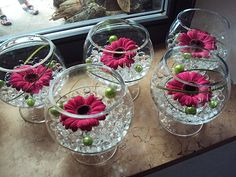Bridal Shower Decorations Centerpieces - New ideas Floral Centerpieces, Table Centerpieces, Wedding Centerpieces, Wedding Table, Floral Arrangements, Wedding Decorations, Table Decorations, Gerbera Daisy Centerpiece, Deco Floral