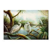 """Found it at Wayfair - """"Three Herons"""" by Victor Giton Painting Print on Wrapped Canvas"""