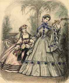 1860's gowns