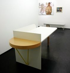 Granville Gallery_Exhibition 2013 w/Sam Baron & Jean le Gac: Atelier Table and Bench_Design by Sam Baron