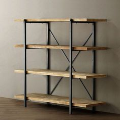 Give Your Rooms Some Spark With These Easy Vintage Industrial Furniture and Design Tips Do you love vintage industrial design and wish that you could turn your home-decorating visions into gorgeous reality? Industrial Design Furniture, Industrial Interiors, Rustic Furniture, Steel Furniture, Furniture Sale, Furniture Buyers, Furniture Dolly, Furniture Companies, Wood Shelves