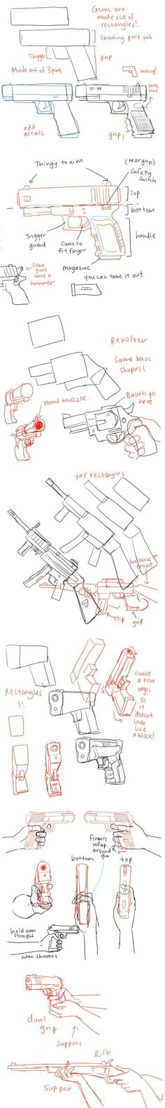 This can be good if want to draw a gun for a anime caracter