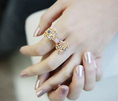 Lady look nail and ring (from LilyFair Jewelry) combo!