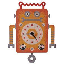 Robot Pendulum Wall Clock